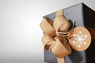 wrapped gift package